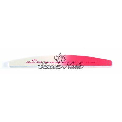 Műköröm reszelő félhold pink 100/180