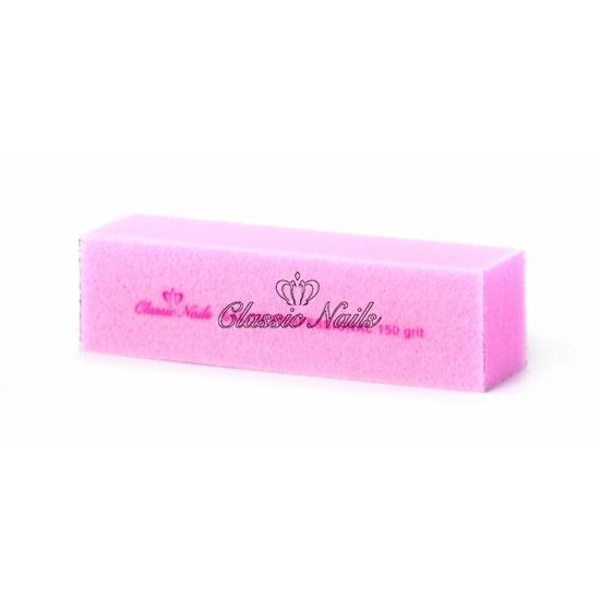 Műköröm buffer rózsaszín kocka 150-es
