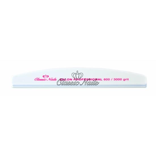 Classic Nails fehér félhold reszelő 240/240