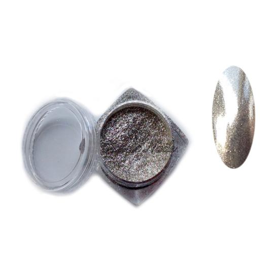 Csillámos metál por, ezüst
