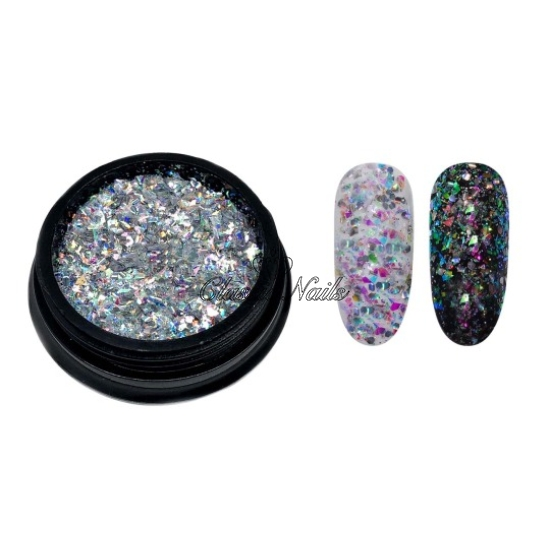 Glitter 304001 ezüst