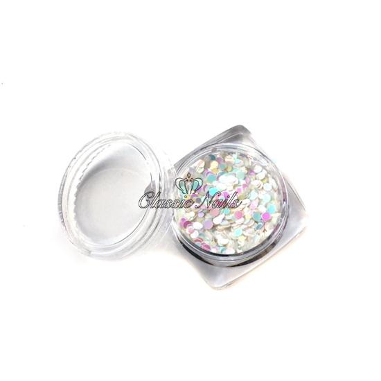 Köröm konfetti hologramos (normál méret)