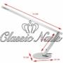 Kép 2/3 - Asztali lámpa talpas, ezüst