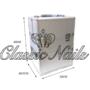 Kép 1/2 - Műkörmös táska nagy, 2in1 bontható ezüst